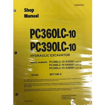Komatsu Netheriands  PC360LC-10 PC390LC-10 Service Repair Printed Manual