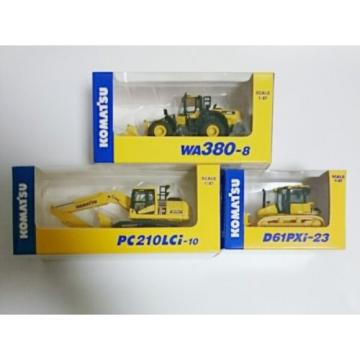 KOMATSU Gambia  1:87 / WA380-8 WHEEL LOADER / PC210LCi-10 EXCAVATOR / D61PXi-23 3set New