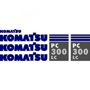 Komatsu Rep.  PC 300 LC Excavator Decal Set
