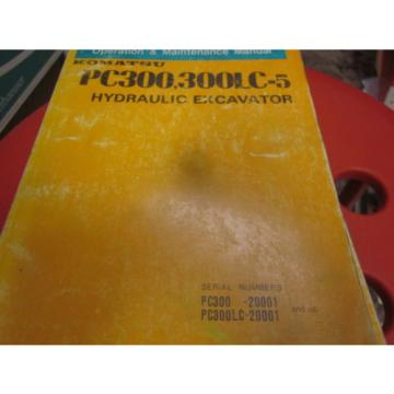 Komatsu Azerbaijan  PC300 PC300LC-5 Excavator Operation & Maintenance Manual 1989
