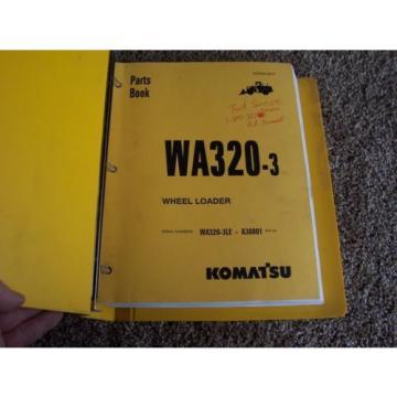 Komatsu Bahamas WA320-3 Wheel Loader WA320-3LE A30001- Factory Parts Catalog Manual