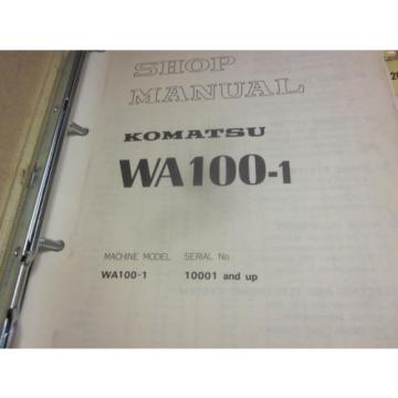 Komatsu Moldova, Republic of  WA100-1 Wheel Loader Service Repair Manual