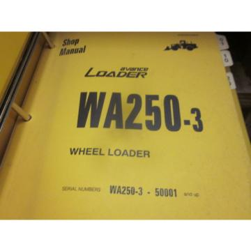 Komatsu Laos  WA250-3 Wheel Loader Repair Shop Manual