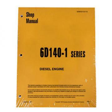 Komatsu Andorra 6D140-1 Series Diesel Engine Service Workshop Printed Manual