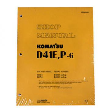 Komatsu Moldova, Republic of  D41E-6, D41P-6 w/ 6D102E-2 Engine Service Printed Manual