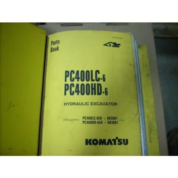 Komatsu Slovenia  Parts Book PC400LC-6, PC400HD-6 Hydraulic Excavator
