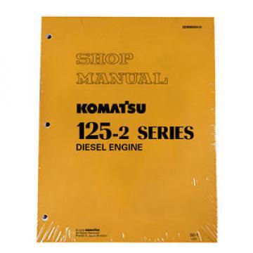 Komatsu Ethiopia 125-2 Series Diesel Engine Service Workshop Printed Manual