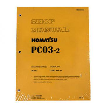 Komatsu Ethiopia  Service PC03-2 Shop Manual Repair Book NEW