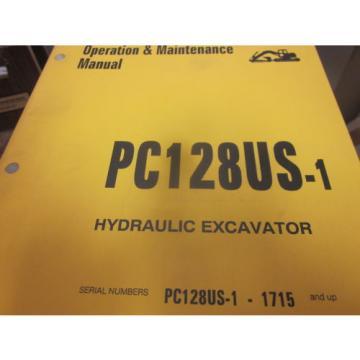 Komatsu Brazil PC128US-1 Hydraulic Excavator Operation & Maintenance Manual