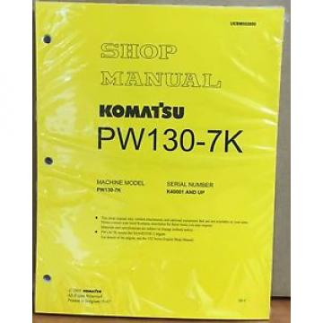 Komatsu Slovenia  Service PW130-7K Excavator Shop Manual NEW REPAIR
