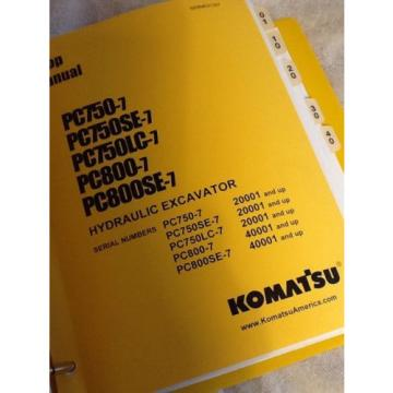 Komatsu Suriname  Pc750-7, Pc750Se-7, Pc750Lc-7, Pc800-7 Excavator Shop Service Manual