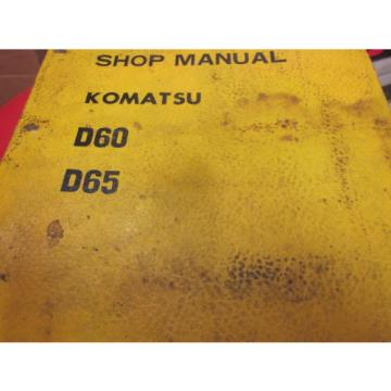 Komatsu Oman  D60 D65 Dozer Repair Shop Manual