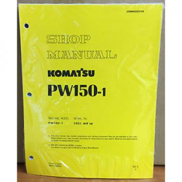 Komatsu Belarus  Service PW150-1 Excavator Shop Manual NEW REPAIR