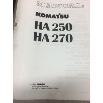 KOMATSU Iran  HA250 HA270 Articulated Dump Truck Shop Manual / Service Repair