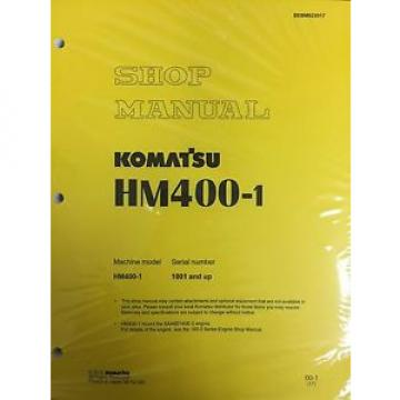 Komatsu Hongkong  HM400-1 Shop Service Manual Articulated Dump Truck