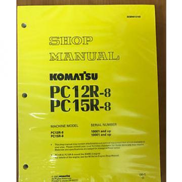 Komatsu Moldova,Republicof Service PC12R-8, PC15R-8 Shop Manual NEW