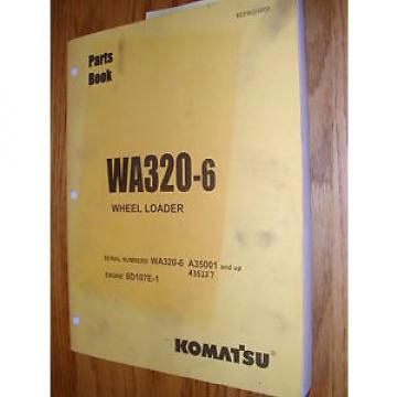 Komatsu Hongkong WA320-6 PARTS MANUAL BOOK CATALOG WHEEL LOADER BEPB024800 GUIDE LIST