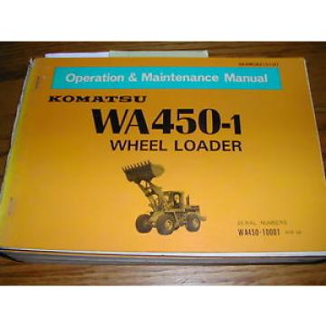 Komatsu Ethiopia  WA450-1 OPERATION MAINTENANCE MANUAL WHEEL LOADER OPERATOR GUIDE BOOK