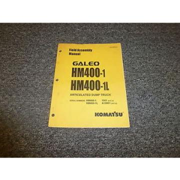Komatsu Gibraltar  Galeo HM400-1 HM400-1L Articulated Dump Truck Field Assembly Manual