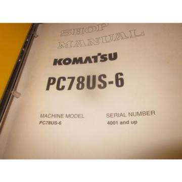 Komatsu Samoa Western  PC78US-6 Hydraulic Excavator Service Repair Manual