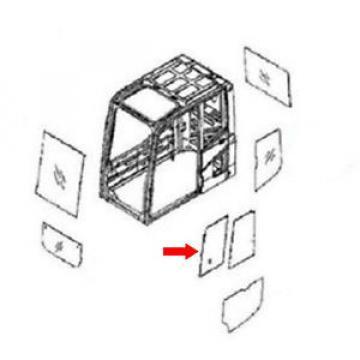 20Y-54-35831 Honduras Front Door Slider Glass Fits Komatsu Excavator PC220-6 PC220-6Z