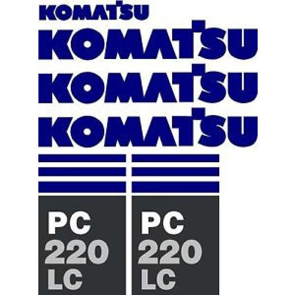 Komatsu Reunion  PC 220 LC Excavator Decal Set #1 image