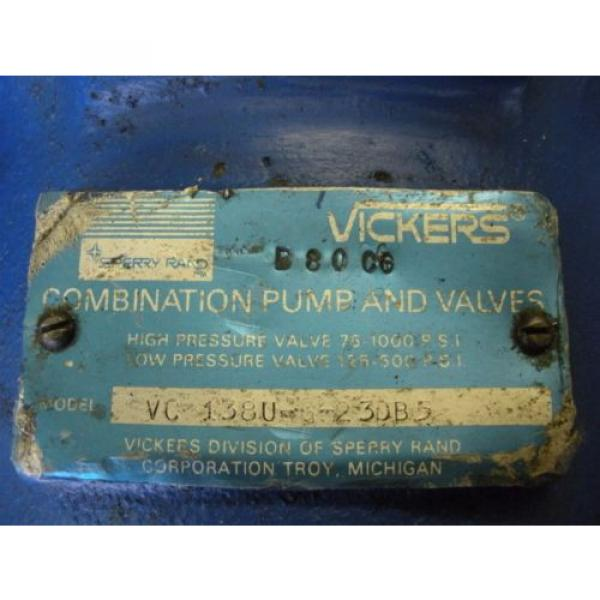 Vickers Andorra  Hydraulic Combination Pump amp; Valve VC-1380-6-230B5 #9 image