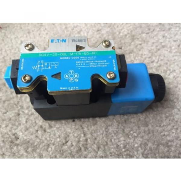 EATON Russia VICKERS DG4V-3S-OBL-M-FW-B5-60 HYDRAULIC DIRECTIONAL VALVE 120 VAC COIL #1 image