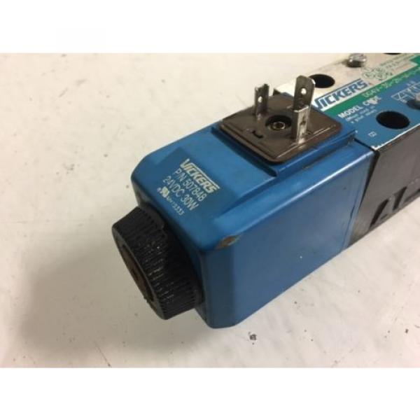 Vickers Botswana Hydraulic Valve, DG4V-3S-2N-M-U-H5-60, 24V Solenoid, Used, WARRANTY #3 image