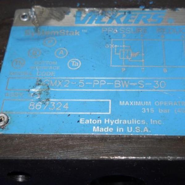 VICKERS Guyana PRESSURE REDUCING HYDRAULIC VALVE GMX2-5-PP-BW-S-30 #2 image