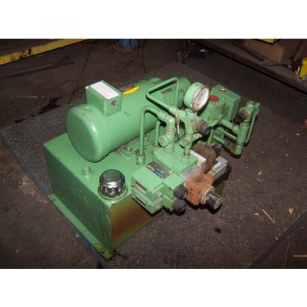 VICKERS Bulgaria DOUBLE A 2 HP HYDRAULIC POWER UNIT MODEL T10P GEROTOR B15-P-10A2 #2 image