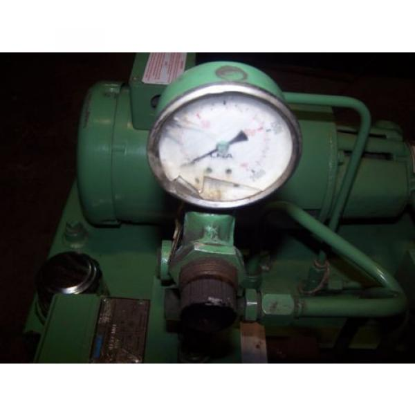 VICKERS Bulgaria DOUBLE A 2 HP HYDRAULIC POWER UNIT MODEL T10P GEROTOR B15-P-10A2 #8 image