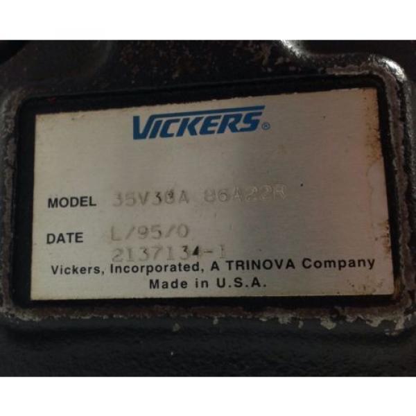 VICKERS Ethiopia   HYDRAULIC PUMP   35V30A 86A22R #2 image