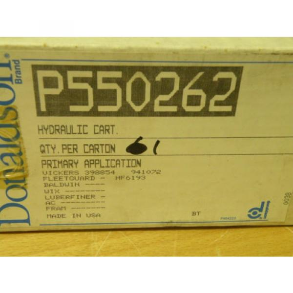 Donaldson Honduras  P550262 Hydraulic Cartridge Filter For Vickers 398854 941072 #6 image