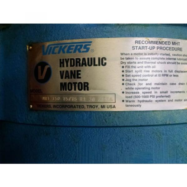 Vickers Guyana  MHT hydraulic motor for Van Dorn Injection Molding Machine #4 image