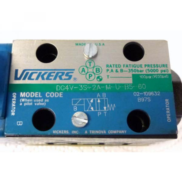 Vickers Russia  DG4V-3S-2A-M-U-B5-60 Hydraulic Directional Control Valve 100 Bar #2 image
