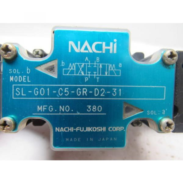 Nachi Guatemala  SL-G01-C5-R-D2-31 Hydraulic Solenoid Directional Control Valve Wet Type #10 image