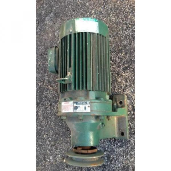 SM CYCLO 3/4 HP 3 PHASE INDUCTION MOTOR WITH SUMITOMO GEAR REDUCER 6:1 #1 image