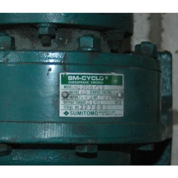 SUMITOMO 043HP SM-CYCLO  HC 3105/08 Gear Speed Reducer 165: 1 Ratio, 1750 RPM #5 image