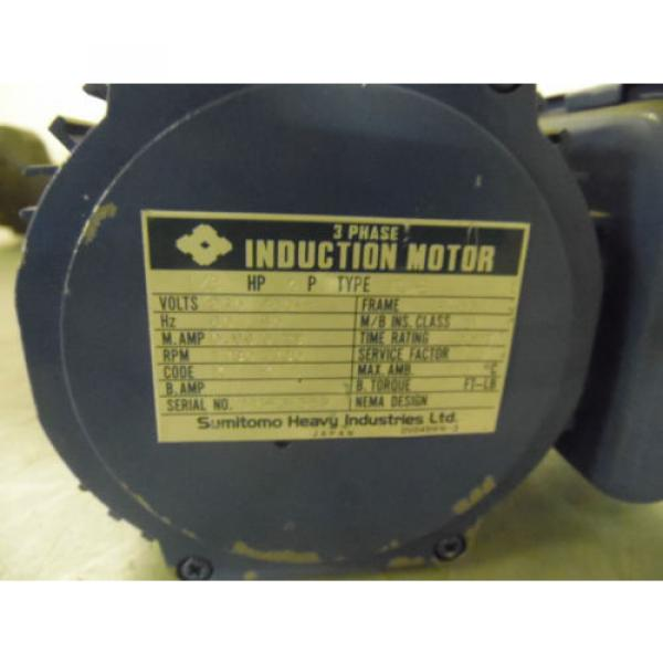 Sumitomo SM-Hyponic Induction Geared Motor, RNFMS01-20LY-50, 60:1,  WARRANTY #3 image