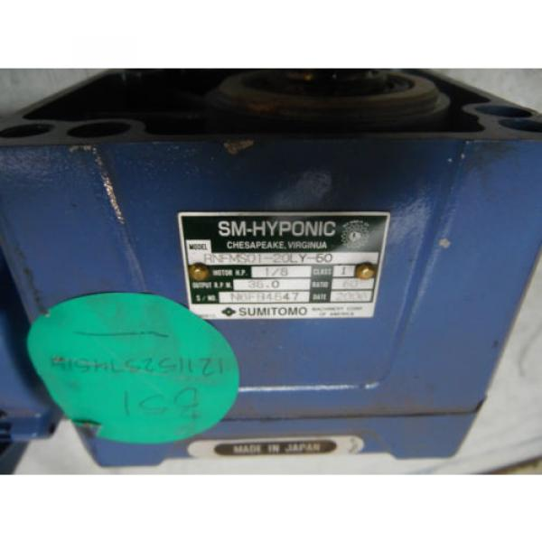 Sumitomo SM-Hyponic Induction Geared Motor, RNFMS01-20LY-50, 60:1,  WARRANTY #5 image