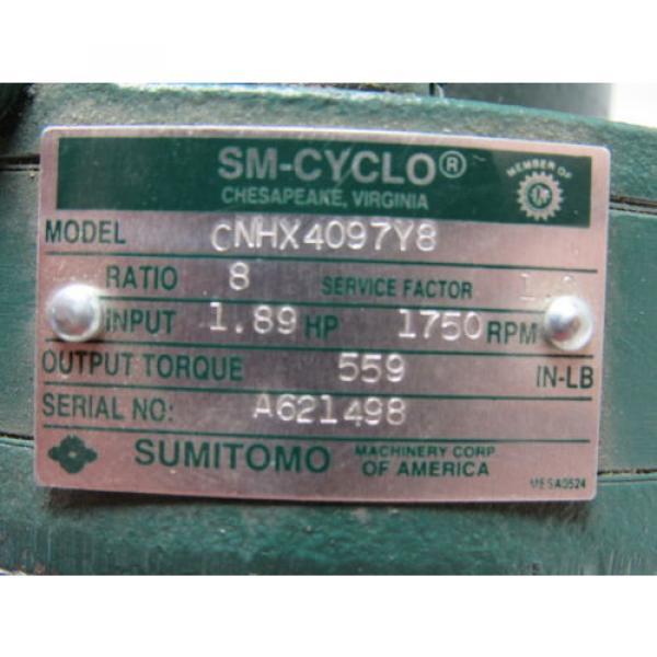 Sumitomo SM-Cyclo CNHX4097Y8 Inline Gear Reducer 8:1 Ratio 189 Hp 1750RPM #10 image
