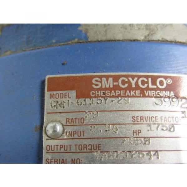 Sumitomo SM-Cyclo CNH6115Y-29 Inline Gear Reducer 29:1 Ratio 298 Hp #9 image