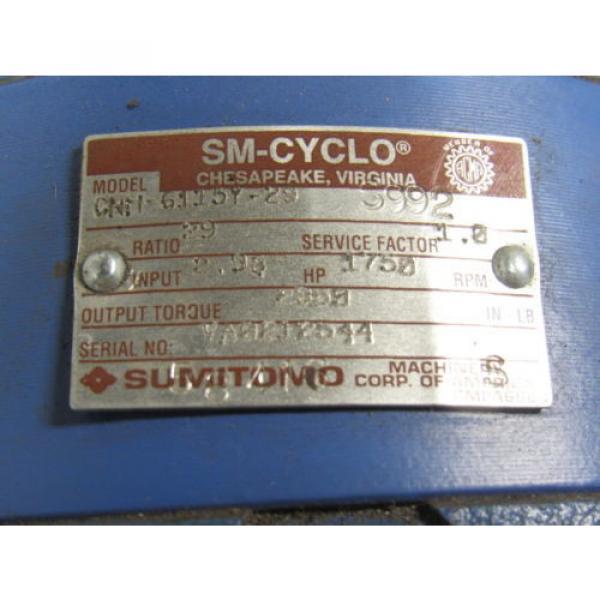 Sumitomo SM-Cyclo CNH6115Y-29 Inline Gear Reducer 29:1 Ratio 298 Hp #10 image
