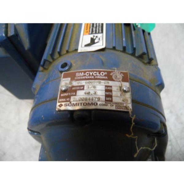 Sumitomo SM-Cyclo Induction Geared Motor, CNHM-01-6065YB-29, 29:1,  WARRANTY #3 image
