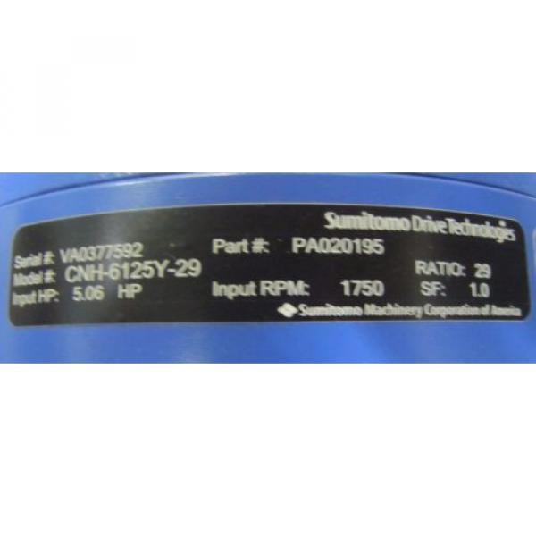 SUMITOMO PA020195 CNH-6125Y-29 29:1 RATIO WORM GEAR SPEED REDUCER GEARBOX Origin #2 image