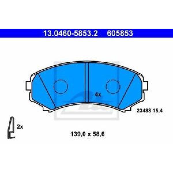 ATE 4x Bremsbeläge Bremsbelagsatz Vorne Mitsubishi #1 image