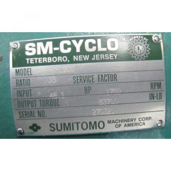 SUMITOMO H1900 SM-CYCLO 35:1 RATIO SPEED REDUCER GEARBOX REBUILT #2 image