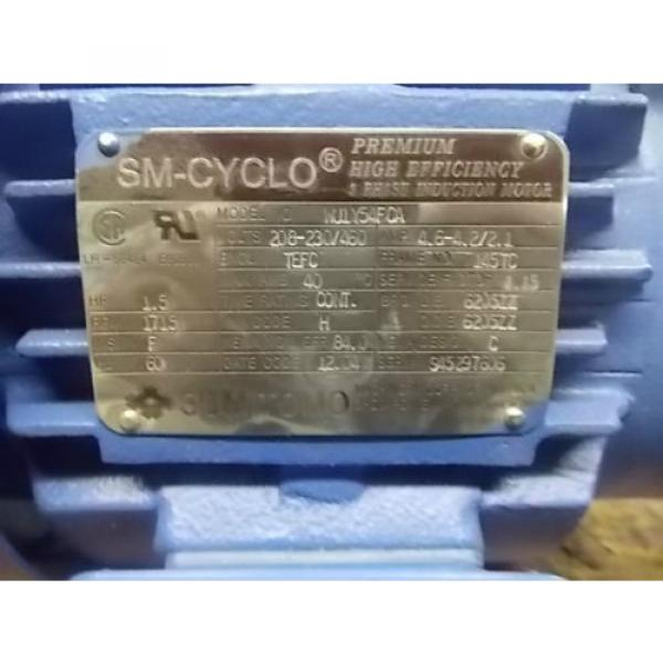 Sumitomo 15 HP SM-CYCLO 3 Phase Premium Induction Motor and Reducer #4 image