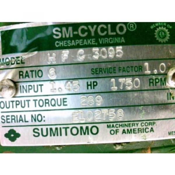 SUMITOMO SM-CYCLO REDUCER HFC3095 Ratio 6 145Hp 1750Rpm Approx Shaft Dia 1127#034; #4 image